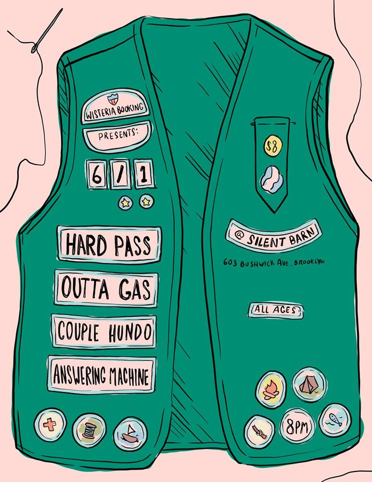 6/1/17 - Hard Pass, Outta Gas, Couple Hundo, Answering Machine at Silent Barn, Brooklyn, NY