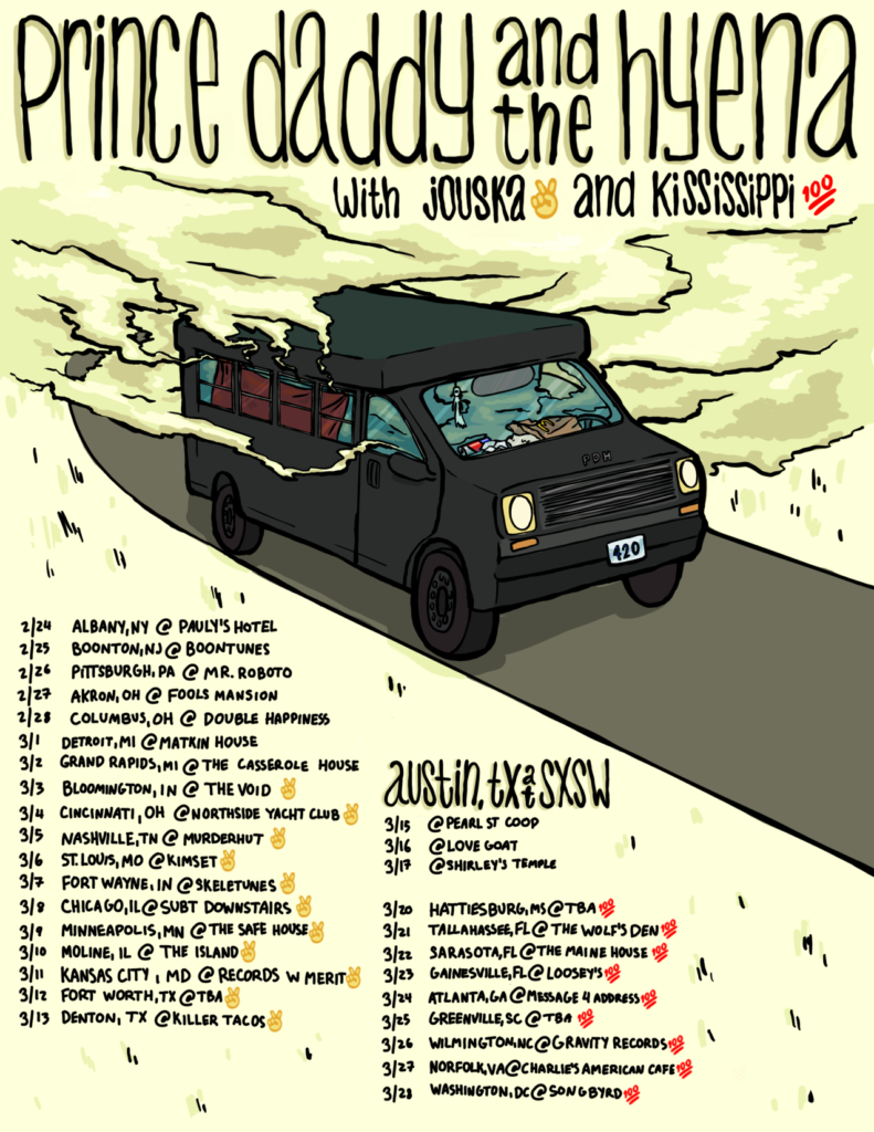 Price Daddy and The Hyena SXSW Tour Poster by Ilana Hope